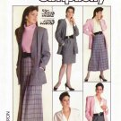 Simplicity Sewing Pattern 8296 Misses Size 8 Wardrobe Blouse Straight Pleated Skirt Jacket