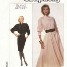Simplicity Sewing Pattern 8341 Misses Size 6-10 Easy Sung Sport Straight Flared Skirt Dress