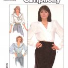 Simplicity Sewing Pattern 8392 Misses Size 6-10 Button Front Blouse Trimmed Collar Sleeve Options