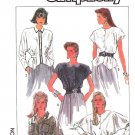 Simplicity Sewing Pattern 8437 Misses Size 8 Button Front Long Short Dolman Sleeve Blouse