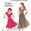 Simplicity Sewing Pattern 8490 Misses Size 6-10 Easy Short Sleeve Flared Skirt Knit Dress