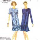 Simplicity Sewing Pattern 8545 Misses Size 6-16 Easy Button Front Dropped Pleated Skirt Dress