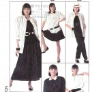 Simplicity Sewing Pattern 8565 Misses Size 10-12 Wardrobe Skirt Pants Shorts Shirt Unlined Jacket