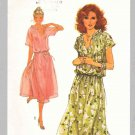 Simplicity Sewing Pattern 8588 Misses Size 8 Pullover Short Sleeve Loose Fitting Dress