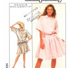 Simplicity Sewing Pattern 8589 Misses Size 10-12 Easy Pullover Short Sleeve Loose Fitting Dress