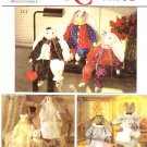 "Simplicity Sewing Pattern 9336 Soft Stuffed 24"" Bunnies Cats Clothes Clown Dress Pants"