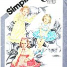 Simplicity Sewing Pattern 9939 Girls Size 4 Cinderella Dress Trim Sleeve Lengths Options