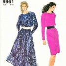 Simplicity Sewing Pattern 9961 Misses Size 8-20 Easy Pullover Long Sleeve Straight Flared Dress
