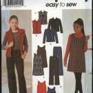 Simplicity Sewing Pattern 9345 Girls Size 7-16 Easy Wardrobe Jumper Pants Jacket Vest