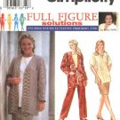 Simplicity Sewing Pattern 9474 Womens Plus Size 18W-24W Easy Wardrobe Skirt Top Pants Jacket