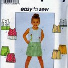 Simplicity Sewing Pattern 8723 5619 7137 Girls Size 5-8 Sleeveless Summer Top Skorts Shorts