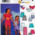 Simplicity Sewing Pattern 5608 5158 9797 Girls Size 3-6 Summer Tops Shorts Capris Scarf Skorts