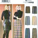 Simplicity Sewing Pattern 5915 Misses Size 6-8-10-12 Easy Straight Button Front Slit Skirt