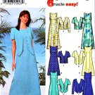 Simplicity Sewing Pattern 5957 Misses Size 6-12 Easy Princess Seam Sleeveless Dress Jacket
