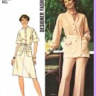 Retro Simplicity Sewing Pattern 6503 Misses Size 12 Dress Top Pants Sleeve Options