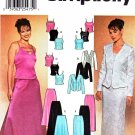 Simplicity Sewing Pattern 7010 Misses Size 14-20 Formal Two-Piece Dress Top Jacket Skirt