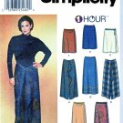 Simplicity Sewing Pattern 7015 Misses Size 18-24 1 Hour Front Wrap Straight Skirts Two Lengths