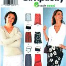 Simplicity Sewing Pattern 7097 Misses Size 8-14 Easy Straight Long Short Skirts Purse