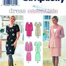 Simplicity Sewing Pattern 7107 Misses Size 18-22 Short Long Sleeve Dress Mock Jacket Straight Skirt