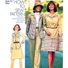 Retro Simplicity Sewing Pattern 7124 Misses Size 12 Shirt-Jacket Flared Skirt Wide Leg Pants