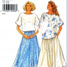 Simplicity Sewing Pattern 7141 Misses Size 8-20 Easy Pullover Short Sleeve Top Gathered skirt