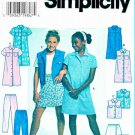 Simplicity Sewing Pattern 7491 Girls Size 12-14-16 Button Front Dress Vest Skorts Pants