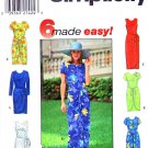 Simplicity Sewing Pattern 8070 Misses Size 18-22 Easy Sarong Style Wrap Short Long Dress