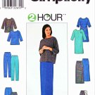 Simplicity Sewing Pattern 8586 Misses Size 6-16 Lnit Wardrobe Dress Top Pants Skirt Shorts Bag