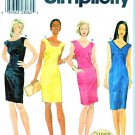 Simplicity Sewing Pattern 8759 Misses Size 4-6-8 Semi-fitted Sleeveless Sheath Dress