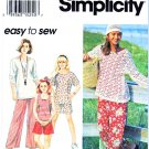 Simplicity Sewing Pattern 8942 Girls Size 7-8-10 Easy Knit Pullover Top Pants Shorts
