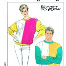 "Simplicity Sewing Pattern 8984 Misses Mens Chest Size 30-32"" Color Blocked Knit Sweatshirt"