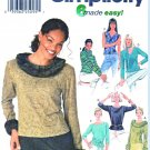 Simplicity Sewing Pattern 9815 Misses Size 4-10 Easy Knit Long Sleeve Sleeveless Tops