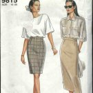 Simplicity Sewing Pattern 9815 Misses Size 10-20 Easy Classic Fitted Straight Skirt Two Lengths