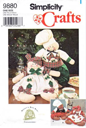 Simplicity Sewing Pattern 9880 16� Gingerbread Snowman People Stuffed Dolls