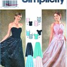 Simplicity Sewing Pattern 9945 Misses Size 4-10 Formal Two-Piece Dress Prom Top Long Skirt