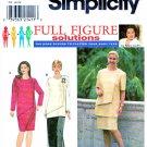 Simplicity Sewing Pattern 8063 Women's Plus Size 18W-24W Straight Skirt Dress Tunic Top