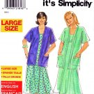 Simplicity Sewing Pattern 8216 Women's Plus Size 18W-26W Easy Summer Dress Jacket Sundress