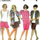 Simplicity Sewing Pattern 8447 Women's Plus Size 18W-24W Wardrobe Shorts Skirt Shirt-Jacket Top