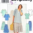 Simplicity Sewing Pattern 8729 Women&#39;s Plus Size 18W-24W Top Pants Tiered Boho Skirt