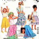 McCall's Sewing Pattern 3124 M3124 Girls' Size 8-10 Brooke Shields Skirts Tucks Ruffles