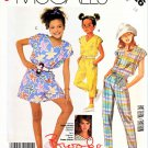 McCall's Sewing Pattern 3126 Girls' Size 10 Easy Brooke Shields Sleeveless Jumpsuit Romper