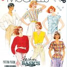 McCall's Sewing Pattern 3130 Misses' Size 8-12 Easy Classic Button Front Tops Sleeve Options