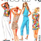 McCall's Sewing Pattern 3147 Misses Size 8 Easy Summer Top Suntop Shorts Tapered Pants