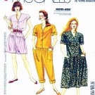 McCall's Sewing Pattern 0022 Misses' Size 10-20 Easy Button Front Dropped Waist Dress Jumpsuit