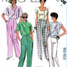 McCall's Sewing Pattern 2008 Misses' Size 18 Long Fitted Front Pleats Pants Trousers