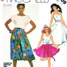 McCall's Sewing Pattern 2009 Misses' Size 10 Easy Learn to Sew Circle Skirt Poodle Appliqué