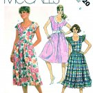 McCall's Sewing Pattern 2020 Misses' Size 6 Button Front Bodice Gathered Skirt Summer Dress