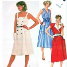McCall's Sewing Pattern 2023 Misses' Size 6-10 Bodice Options Front Wrap Summer Dresses