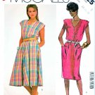 McCall's Sewing Pattern 2025 Misses Size 14-18 Easy Button Front Straight Flared Skirt Dress