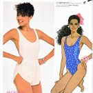 McCall's Sewing Pattern 2027 Misses' Size 8 One Piece Maillot Knit Swimsuit Bathing Shorts